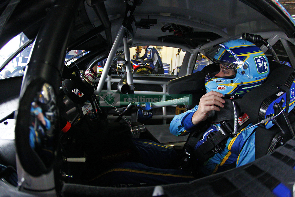 August 10, 2018 - Brooklyn, Michigan, United States of America - Ricky Stenhouse, Jr (17) hangs out in the garage during practice for the Consumers Energy 400 at Michigan International Speedway in Brooklyn, Michigan. (Credit Image: © Justin R. Noe Asp Inc/ASP via ZUMA Wire)