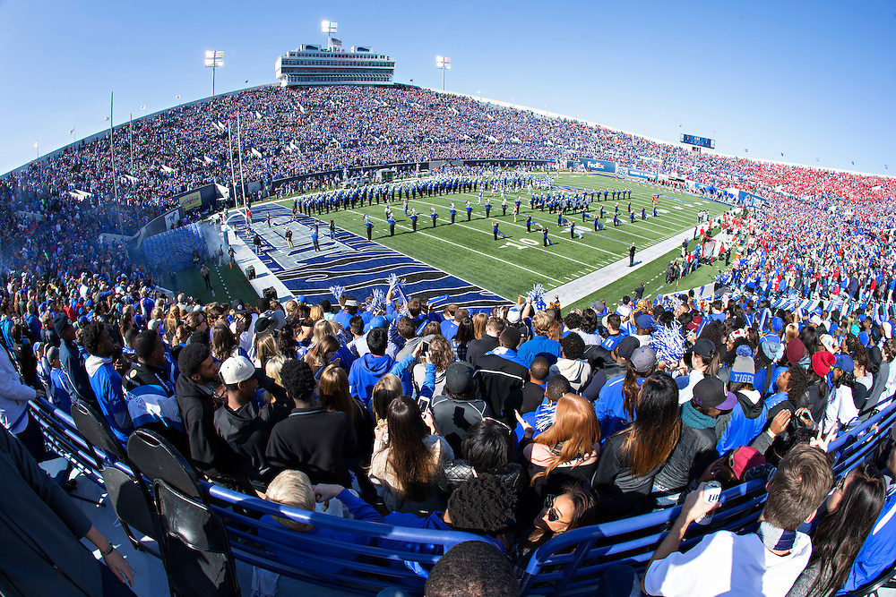 MEMPHIS, TN - OCTOBER 17:  Liberty Bowl Memorial Stadium before a game between the Memphis Tigers and the Ole Miss Rebels on October 17, 2015 in Memphis, Tennessee.  The Tigers defeated the Rebels 37-24.  (Photo by Wesley Hitt/Getty Images) *** Local Caption ***