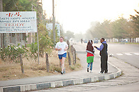 24/11/2013 repro free Orla Curran from Galway taking part in the Great Ethiopian run in Hawassa as opposed to the Capital Addis Ababa due to a security threat, part of a group of 20 from Ireland who ran the race in aid of Self Help Africa. Photo:Andrew Downes