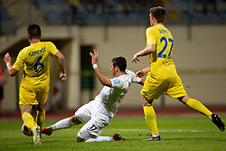 Tilen Klemencic of Domzale and Dominik Radic of NK Rudar Velenje during football match between NK Domzale and NK Rudar in Round #2 of Prva liga Telekom Slovenije 2018/19, on April 29, 2018 in Sports Park Domzale, Domzale, Slovenia. Photo by Urban Urbanc / Sportida