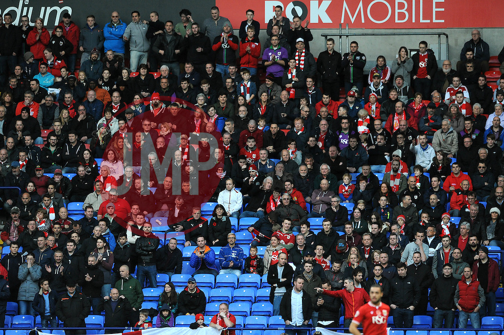 Bristol City fans look on - Mandatory byline: Dougie Allward/JMP - 07966 386802 - 07/11/2015 - FOOTBALL - Macron Stadium - Bolton, England - Bolton Wanderers v Bristol City - Sky Bet Championship