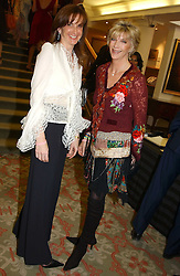 Left to right, BEE VAN ZUYLEN and SUSAN SINGER at '4 Inches' a project 'For Women about Women By Women' - A photographic Auction in aid of the Elton John Aids Foundation hosted by Tamara Mellon President of Jimmy Choo and Arnaud Bamberger MD of Cartier UK at Christie's, 8 King Street, London W1 on 25th May 2005.<br /><br />NON EXCLUSIVE - WORLD RIGHTS