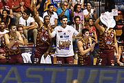 DESCRIZIONE : Supercoppa 2015 Semifinale Olimpia EA7 Emporio Armani Milano - Umana Reyer Venezia<br /> GIOCATORE : Panchina Venezia<br /> CATEGORIA : Ritratto Esultanza Panchina<br /> SQUADRA : Umana Reyer Venezia<br /> EVENTO : Supercoppa 2015<br /> GARA : Olimpia EA7 Emporio Armani Milano - Umana Reyer Venezia<br /> DATA : 26/09/2015<br /> SPORT : Pallacanestro <br /> AUTORE : Agenzia Ciamillo-Castoria/GiulioCiamillo