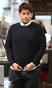 01.MARCH.2014. ESSEX<br /> <br /> CODE - MAG<br /> <br /> TOWIES JAMES 'ARG' ARGENT SEEN BUYING A NEW BLUE JUMPER AHEAD OF TOWIE FILMING IN EPPING, ESSEX. JAMES TOOK BEST MATE TOM PEARCE ALONG AND PICKED OUT A £260.00 JUMPER BUT FORGOT TO REMOVE THE SECURITY TAG AND SET OFF THE STORE ALARMS. JAMES WAS ALSO SEEN RIPPING UP HIS OLD RED JUMPER WITH HELP FROM TOM AND CHUCKED IT IN THE BIN, THEY THEN WENT TO GREGS FOR A SAUSAGE ROLL OR TOO. BUT BEFORE HEADING BACK TO FILMING JAMES AND TOM WERE STOPPED IN THE STREET BY A FAN WHO WANTED TO TAKE A PICTURE OF THEM WITH HER LITTLE DOG<br /> <br /> BYLINE: EDBIMAGEARCHIVE.CO.UK<br /> <br /> *THIS IMAGE IS STRICTLY FOR UK NEWSPAPERS AND MAGAZINES ONLY*<br /> *FOR WORLD WIDE SALES AND WEB USE PLEASE CONTACT EDBIMAGEARCHIVE - 0208 954 5968*