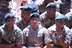 Tuesday 10 December 2013, The public and the armed forces watched the National Memorial service for Nelson Mandela at the FNB stadium in Johannesburg, on giant screens in front of the Cape Town City Hall and the Grand Parade, Tuesday, 10th December 2013. Picture by Roger Sedres / i-Images