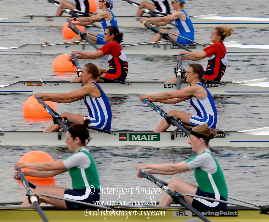 2005 FISA World Cup, Dorney Lake, Eton, ENGLAND, 26.05.05. [Thursday pm].Photo  Peter Spurrier. .email images@intersport-images...[Mandatory Credit Peter Spurrier/ Intersport Images] , Rowing Courses, Dorney Lake, Eton. ENGLAND