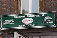 Entrance to a photocopying shop in Krakow Poland