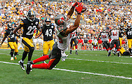 PITTSBURGH, PA - SEPTEMBER 28: Wide Receiver Vincent Jackson #83 of the Tampa Bay Buccaneers during the game against the Pittsburgh Steelers at Heinz Field on September 28, 2014, in Pittsburgh, Pennsylvania. The Buccaneers won 27-24. (photo by Mike Carlson/Tampa Bay Buccaneers)
