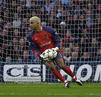 Photo. Glyn Thomas.Digitalsport<br /> Manchester City v Blackburn Rovers. Premiership. <br /> City of Manchester Stadium, Manchester. 17/01/2004.<br /> Man City's David James makes a rare first half save.