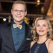 NLD/Amsterdam/20171012 - Televizier-Ring Gala 2017, Luuk Ikink en partner Simone Wijnands