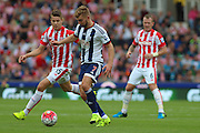 West Bromwich Albion midfielder James Morrison during the Barclays Premier League match between Stoke City and West Bromwich Albion at the Britannia Stadium, Stoke-on-Trent, England on 29 August 2015. Photo by Aaron Lupton.