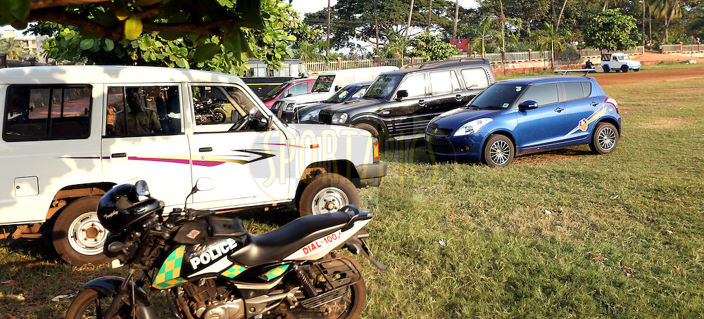 Parking during match 39 of the Indian Super League (ISL) season 2  between FC Goa and Mumbai City FC held at the Jawaharlal Nehru Stadium, Fatorda, Goa, India on the 17th November 2015.<br /> <br /> Photo by Sandeep Shetty / ISL/ SPORTZPICS