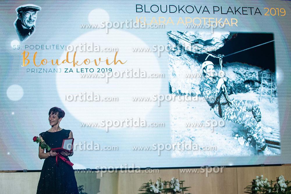 Meta Apotekar at 55th Annual Awards of Stanko Bloudek for sports achievements in Slovenia in year 2018 on February 4, 2020 in Brdo Congress Center, Kranj , Slovenia. Photo by Grega Valancic / Sportida