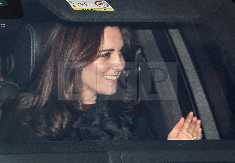 © Licensed to London News Pictures. 20/12/2017. London, UK. The Duchess of Cambridge leaves Buckingham Palace after attending the Queen's annual Christmas lunch. Photo credit: Peter Macdiarmid/LNP