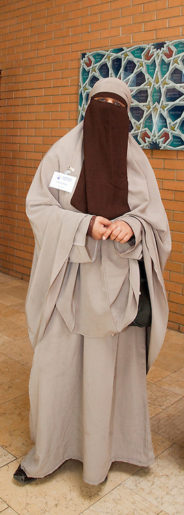 "© under licence to London News Pictures. 21/05/2011. London,UK. KENZA DRIDER, the French woman who recently defied the Niqab, full veil, ban in France.  She was arrested by the French Police for refusing to take off her full veil in public. Pictured Appearing at conference ""Confronting Anti-Muslim Hatred in Britain and Europe"" at the London Muslim Centre in Whitechapel today (21/05/2011). Photo credit should read BETTINA STRENSKE/LNP"