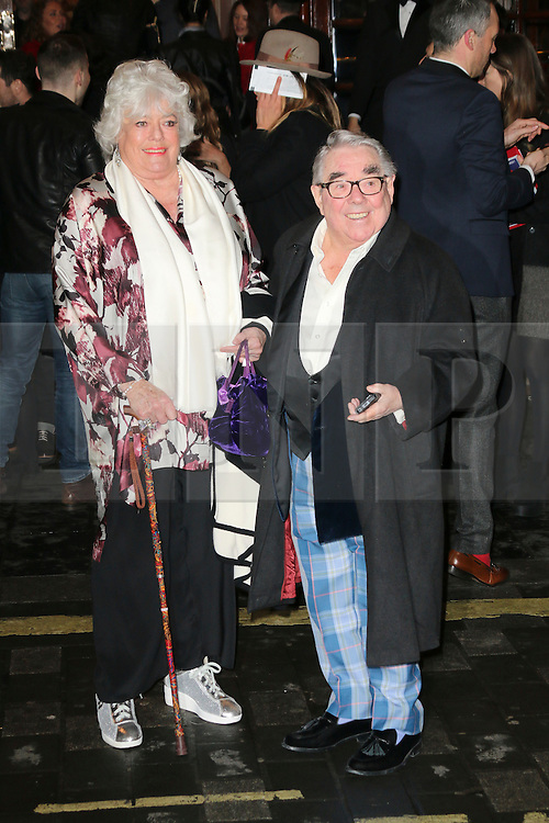 ** FILE PICTURE of Ronnie Corbett, who has died at the age of 85** <br /> © London News Pictures. Ronnie Corbett, I Can't Sing! The X Factor Musical - press night, London Palladium, London UK, 26 March 2014, Photo by Richard Goldschmidt/LNP