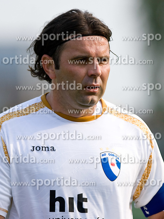 Enes Demirovic of Gorica at football match between NK Olimpija vs Hit Gorica in 11th Round of Prva liga 2009 - 2010,  on September 27, 2009, in ZSD Ljubljana, Ljubljana, Slovenia.  (Photo by Vid Ponikvar / Sportida)