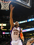 Feb. 15, 2011; Phoenix, AZ, USA; Phoenix Suns forward Grant Hill (33) puts up a shot against the Utah Jazz at the US Airways Center. Mandatory Credit: Jennifer Stewart-US PRESSWIRE.