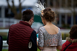 LIVERPOOL, ENGLAND - Thursday, April 6, 2017: Racegoers, during The Opening Day on Day One of the Aintree Grand National Festival 2017 at Aintree Racecourse. (Pic by David Rawcliffe/Propaganda)