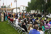 "19 January 2015-Santa Barbara, CA: Santa Barbara Honors Dr. Martin Luther King Jr. with a Day of Celebration.  The Santa Barbara MLK, Jr. Committee chose ""Drum Majors for Justice"" as it's theme for the day which included a Pre-March Program in De la Guerra Plaza followed by a march up State Street to the Arlington Theater for speakers, music and poetry.  The program concluded with a Community Lunch at the First United Methodist Church in Santa Barbara.  Photo by Rod Rolle"