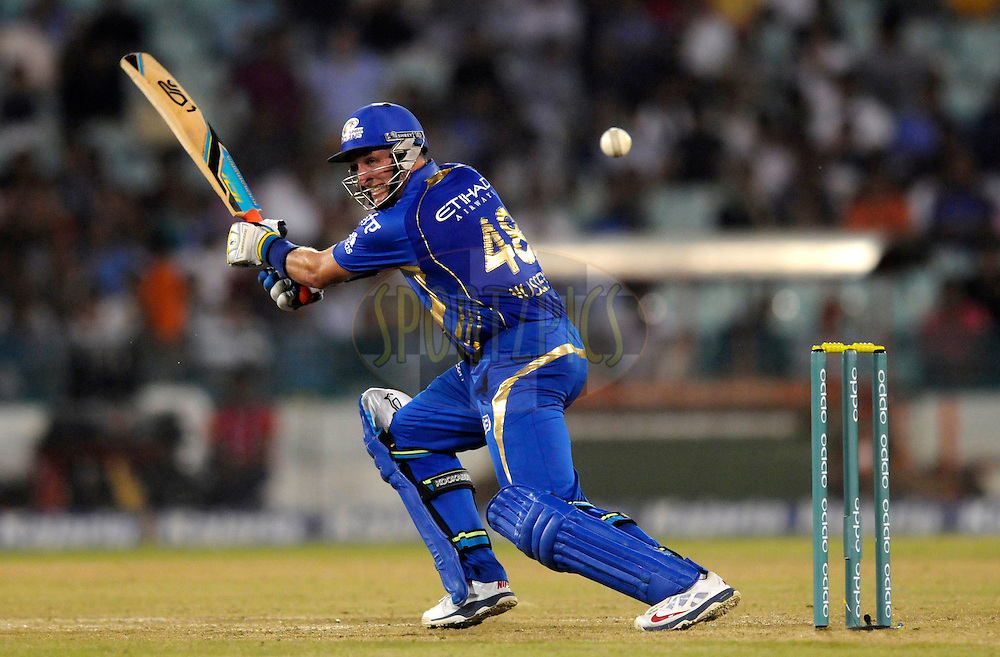 Michael Hussey of Mumbai Indians and bats during the qualifier 4 match of the Oppo Champions League Twenty20 between the Mumbai Indians and the Southern Express held at the Chhattisgarh International Cricket Stadium, Raipur, India on the 14th September 2014<br /> <br /> Photo by:  Pal Pillai / Sportzpics/ CLT20<br /> <br /> <br /> Image use is subject to the terms and conditions as laid out by the BCCI/ CLT20.  The terms and conditions can be downloaded here:<br /> <br /> http://sportzpics.photoshelter.com/gallery/CLT20-Image-Terms-and-Conditions-2014/G0000IfNJn535VPU/C0000QhhKadWcjYs