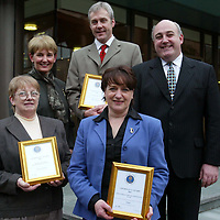 The Edrington Group Chairman's Award winners  with Derek Brown<br /><br /><br />Pic by Graeme Hart<br />Copyright Perthshire Picture Agency<br />Tel: 01738 623350 / 07990 594431