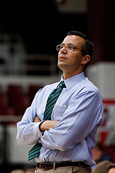 Nov 14, 2011; Stanford CA, USA;  Colorado State Rams head coach Tim Miles on the sidelines against the Southern Methodist Mustangs during the first half of a preseason NIT game at Maples Pavilion.  Mandatory Credit: Jason O. Watson-US PRESSWIRE