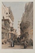 Egypt and Nubia, Volume III: Mosque el Mooristan, Cairo, 1849. Louis Haghe (British, 1806-1885), F.G.Moon, 20 Threadneedle Street, London, after David Roberts (British, 1796-1864). Color lithograp