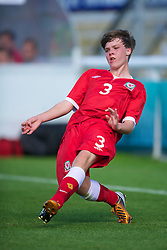 BANGOR, WALES - Thursday, August 30, 2012: Wales' Rhys Abbruzzese in action against Poland during the International Friendly Under-16's match at the Nantporth Stadium. (Pic by David Rawcliffe/Propaganda)