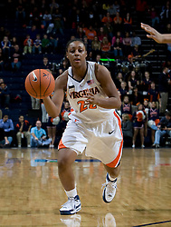Virginia guard Monica Wright (22) in action against Maryland.  The Virginia Cavaliers women's basketball team fell to the #4 ranked Maryland Terrapins 74-62 at the John Paul Jones Arena in Charlottesville, VA on January 18, 2008.