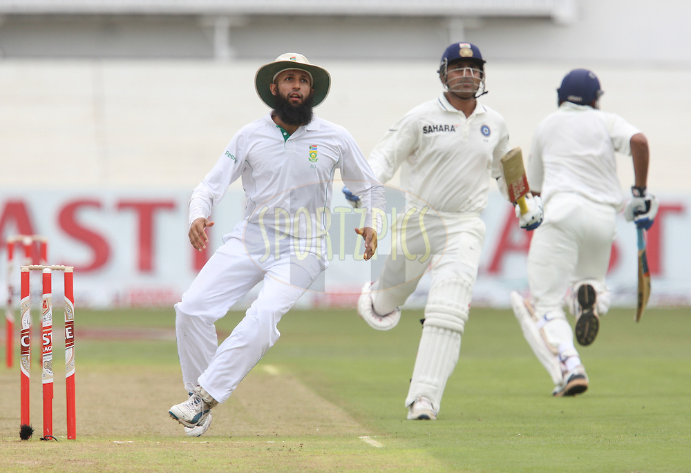 Hashim Amla  during day 1 of the second test match between South Africa and India held at Kingsmead Stadium in Durban on Boxing Day, 26th December...Photo by Steve Haag/BCCI/SPORTZPICS