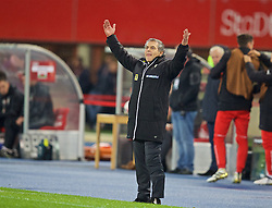 VIENNA, AUSTRIA - Thursday, October 6, 2016: Austria's head coach Marcel Koller during the 2018 FIFA World Cup Qualifying Group D match against Wales at the Ernst-Happel-Stadion. (Pic by David Rawcliffe/Propaganda)
