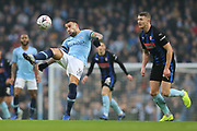 30 Nicolás Otamendi for Manchester City during the The FA Cup 3rd round match between Manchester City and Rotherham United at the Etihad Stadium, Manchester, England on 6 January 2019.