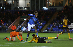 Ivan Toney of Peterborough United scores his first goal of the game against Southend United - Mandatory by-line: Joe Dent/JMP - 11/02/2020 - FOOTBALL - Weston Homes Stadium - Peterborough, England - Peterborough United v Southend United - Sky Bet League One