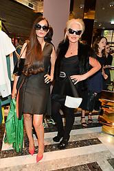 Left to right, AMANDA ELIASCH and RUSHKA BERGMAN at the opening of Roksanda - the new Mayfair Store for designer Roksanda Ilincic at 9 Mount Street, London on 10th June 2014.