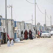 Utečenecký tábor v Erbile, hlavnom meste Autonómnej oblasti Kurdistan v severnom Iraku.