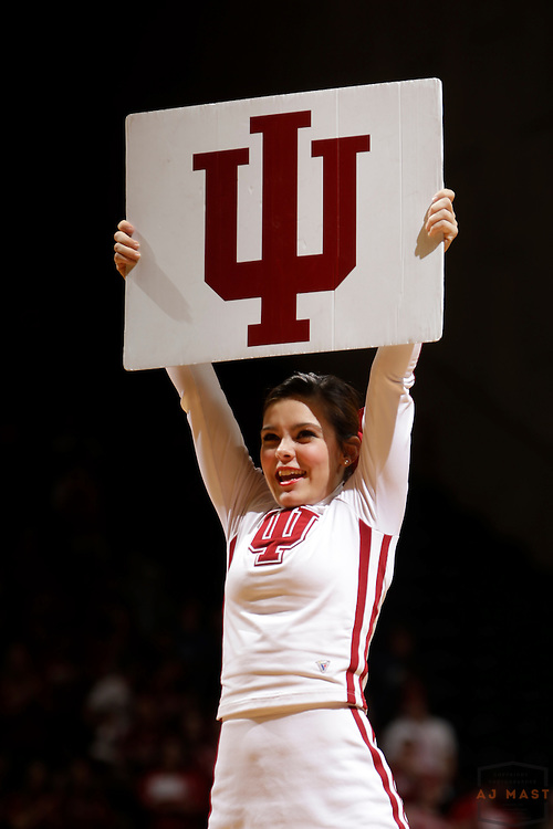 Indiana Cheerleaders as Texas Southern University played Indiana in an NCCA college basketball game, Monday, Nov. 17, 2014 in Bloomington, Ind.. (AJ Mast /Photo)