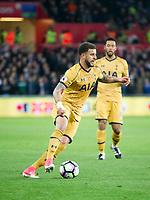 Football - 2016 / 2017 Premier League - Swansea City vs. Tottenham Hotspur<br /> <br /> Kyle Walker of Tottenham Hotspurs  on the ball , at The Liberty Stadium.<br /> <br /> COLORSPORT/WINSTON BYNORTH