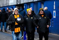Wolverhampton Wanderers fans arrive at Goodison Park for their side's Premier League fixture against Everton - Mandatory by-line: Robbie Stephenson/JMP - 02/02/2019 - FOOTBALL - Goodison Park - Liverpool, England - Everton v Wolverhampton Wanderers - Premier League