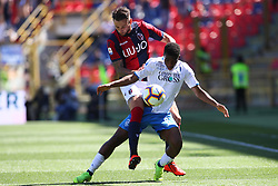 "Foto LaPresse/Filippo Rubin<br /> 27/04/2019 Bologna (Italia)<br /> Sport Calcio<br /> Bologna - Empoli - Campionato di calcio Serie A 2018/2019 - Stadio ""Renato Dall'Ara""<br /> Nella foto: MITCHELL DIJKS (BOLOGNA F.C.) VS HAMED JUNIOR TRAORE (EMPOLI)<br /> <br /> Photo LaPresse/Filippo Rubin<br /> April 27, 2019 Bologna (Italy)<br /> Sport Soccer<br /> Bologna vs Empoli - Italian Football Championship League A 2017/2018 - ""Renato Dall'Ara"" Stadium <br /> In the pic: MITCHELL DIJKS (BOLOGNA F.C.) VS HAMED JUNIOR TRAORE (EMPOLI)"