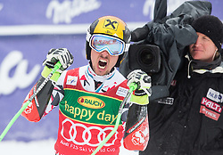 Marcel Hirscher (AUT) celebrates during 2nd Run of 10th Men's Giant Slalom race of FIS Alpine Ski World Cup 55th Vitranc Cup 2016, on March 5, 2016 in Kranjska Gora, Slovenia. Photo by Vid Ponikvar / Sportida