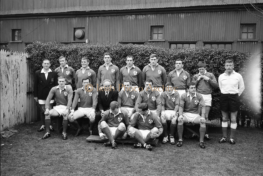 Irish Rugby Football Union, Ireland v Wales, Five Nations, Landsdowne Road, Dublin, Ireland, Saturday 9th March, 1968,.9.3.1968, 3.9.1968,..Referee- M H Titcomb, Rugby Football Union, ..Score- Ireland 9 - 6 Wales, ..Irish Team, ..T J Kiernan,  Wearing number 15 Irish jersey, Captain of the Irish team, Full Back, Cork Constitution Rugby Football Club, Cork, Ireland,..A T A Duggan, Wearing number 14 Irish jersey, Right Wing, Landsdowne Rugby Football Club, Dublin, Ireland,..B A P O'Brien, Wearing number 13 Irish jersey, Right Centre, Shannon Rugby Football Club, Limerick, Ireland,..F P K Bresnihan, Wearing number 12 Irish jersey, Left Centre, University College Dublin Rugby Football Club, Dublin, Ireland, ..J C M Moroney, Wearing number 11 Irish jersey, Left Wing, London Irish Rugby Football Club, Surrey, England, ..C M H Gibson, Wearing number 10 Irish jersey, Stand Off, N.I.F.C, Rugby Football Club, Belfast, Northern Ireland, ..R M Young, Wearing number 9 Irish jersey, Scrum Half, Queens University Rugby Football Club, Belfast, Northern Ireland,..K G Goodall, Wearing number 8 Irish jersey, Forward, City of Derry Rugby Football Club, Derry, Northern Ireland,..T J Doyle, Wearing number 7 Irish jersey, Forward, Wanderers Rugby Football Club, Dublin, Ireland, ..M G Doyle, Wearing number 6 Irish jersey, Forward, Blackrock College Rugby Football Club, Dublin, Ireland, ..W J McBride, Wearing number 5 Irish jersey, Forward, Ballymena Rugby Football Club, Antrim, Northern Ireland,..M G Molloy, Wearing number 4 Irish jersey, Forward, University College Galway Rugby Football Club, Galway, Ireland,  ..P O'Callaghan, Wearing number 3 Irish jersey, Forward, Dolphin Rugby Football Club, Cork, Ireland, ..A M Brady, Wearing number 2 Irish jersey, Forward, Malone Rugby Football Club, Belfast, Northern Ireland, ..S Millar, Wearing number 1 Irish jersey, Forward, Ballymena Rugby Football Club, Antrim, Northern Ireland,.