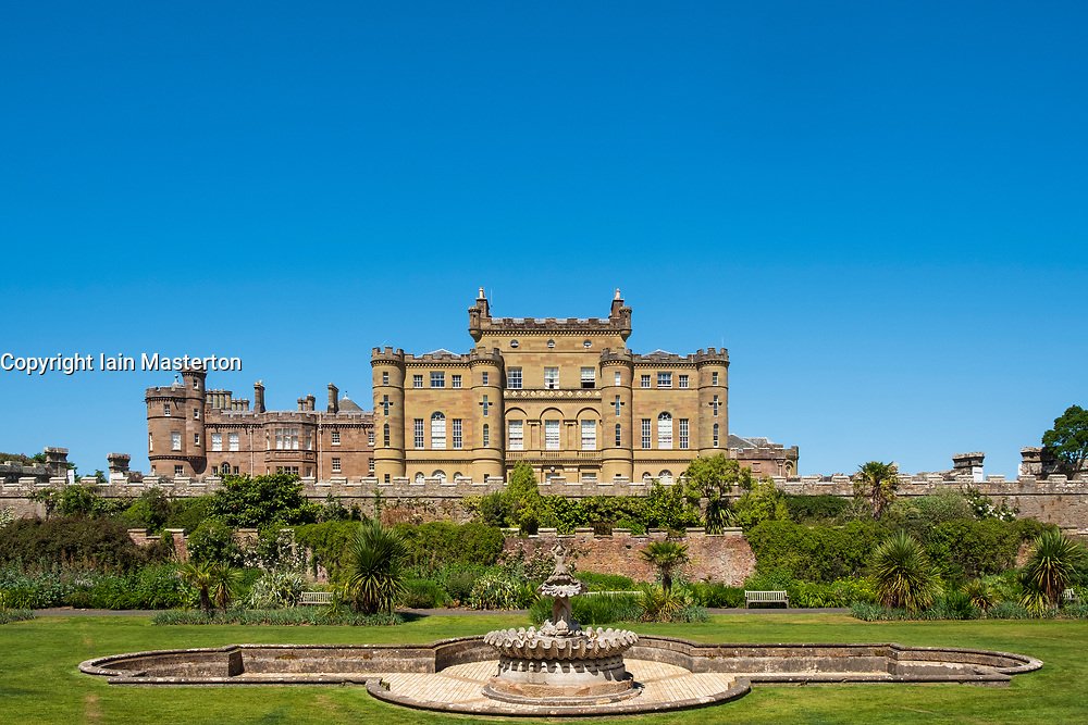 View of Culzean Castle in Ayrshire, Scotland, UK