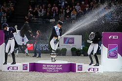 Werth Isabell, GER, Graves Laura, USA, Von Bredow-Werndl Jessica, GER<br /> LONGINES FEI World Cup™ Finals Paris 2018<br /> © Hippo Foto - Dirk Caremans<br /> 14/04/18