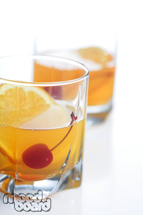 Close up of orange drink