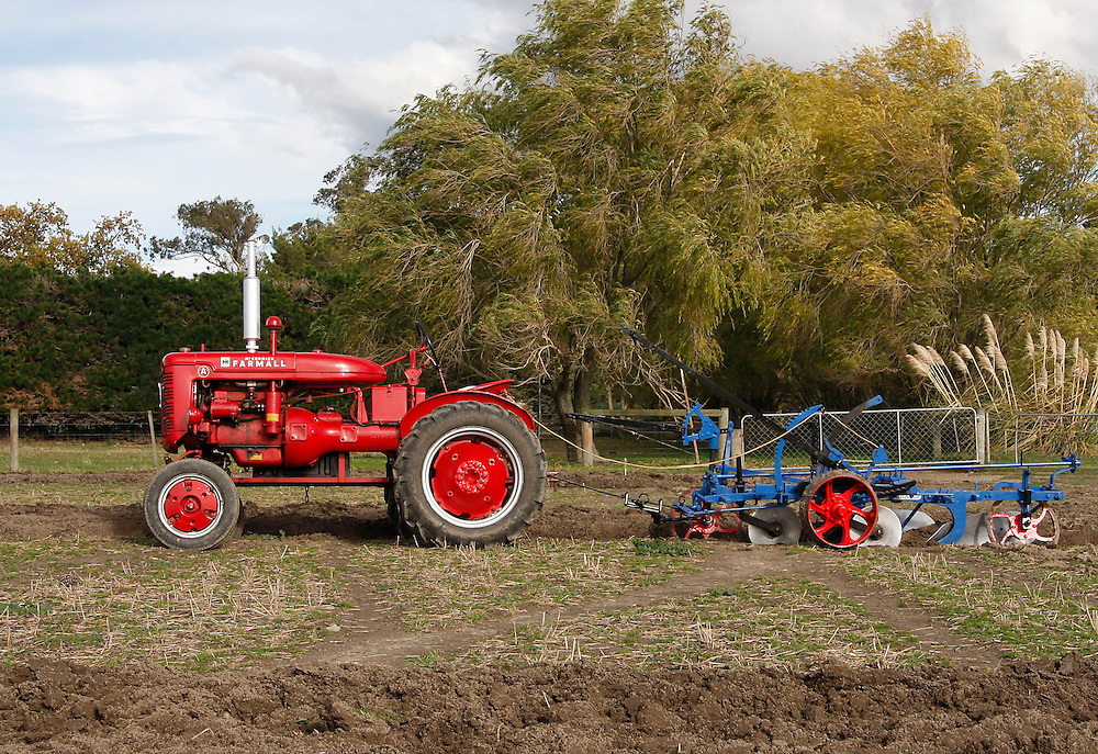 MCCormick Farmall tractor, ploughing competition, North Canterbury, New Zealand, May 16, 2009. Credit:SNPA/Pam Johnson