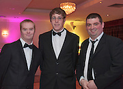 Alan Beatty Merlin and Colm Bushell Tuam  and Barry  Ballybane.  at the Ability WestBest Buddies ball at the Menlo Park Hotel, Galway. Photo:Andrew Downes Photography.