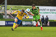 Forest Green Rovers Christian Doidge(9) goes to head the ball during the Vanarama National League match between Forest Green Rovers and Torquay United at the New Lawn, Forest Green, United Kingdom on 1 January 2017. Photo by Shane Healey.