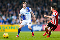 James Clarke of Bristol Rovers is challenged by George Honeyman of Sunderland - Rogan/JMP - 23/02/2019 - FOOTBALL - Memorial Stadium - Bristol, England - Bristol Rovers v Sunderland - EFL Sky Bet League One.