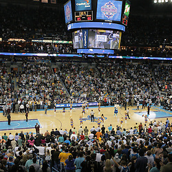 29 March 2009: A view from a sold-out New Orleans Arena during a 90-86 victory by the New Orleans Hornets over Southwestern Division rivals the San Antonio Spurs at the New Orleans Arena in New Orleans, Louisiana.